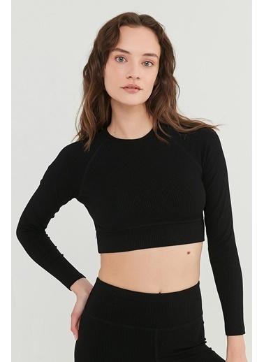 Penti Kadın Siyah Pft Ribbed Long Bluz PH9B6YTP21IY Siyah